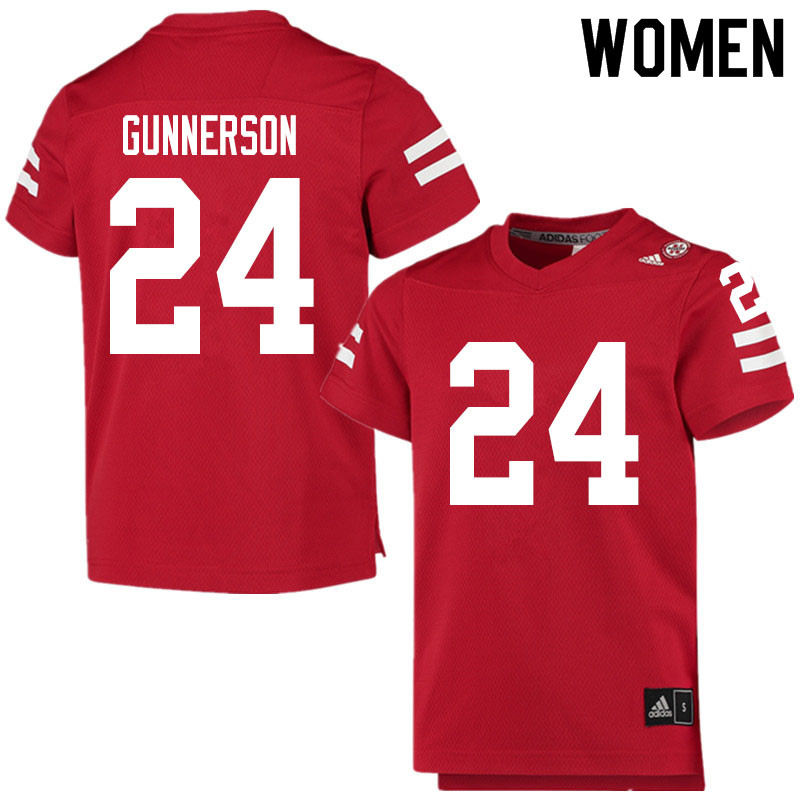 Women #24 Blaise Gunnerson Nebraska Cornhuskers College Football Jerseys Sale-Scarlet